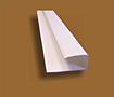 Polyvinyl Chloride (PVC) Wall Panel Base and Cap J-Trim