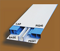 Two Part H-Bar Cap and Base Trim